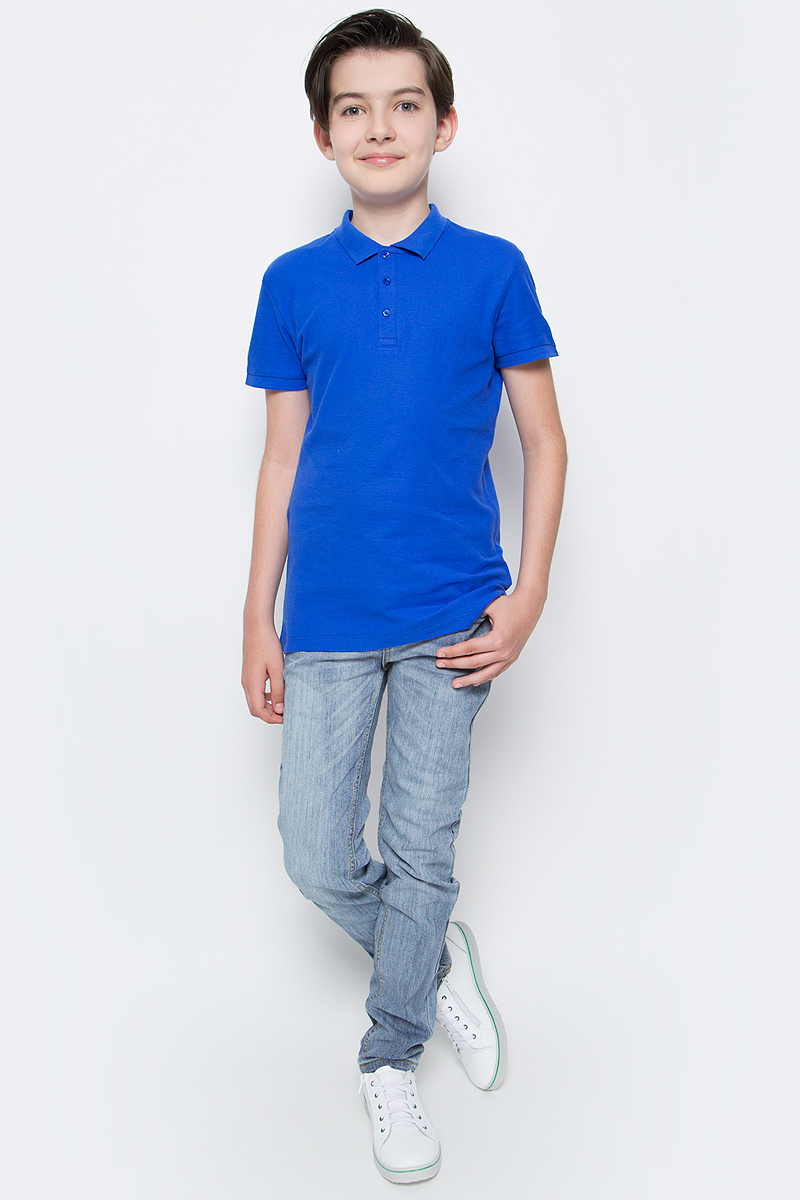 Поло для мальчика Sela, цвет: индиго. Tsp-811/607-7224. Размер 122Tsp-811/607-7224Стильная футболка-поло для мальчика Sela выполнена из натурального хлопка Модель прямого кроя с отложным воротничком, застегивающимся на пуговицы, подойдет для прогулок и дружеских встреч и будет отлично сочетаться с джинсами, брюками и шортами.Яркий цвет модели позволяет создавать стильные образы.