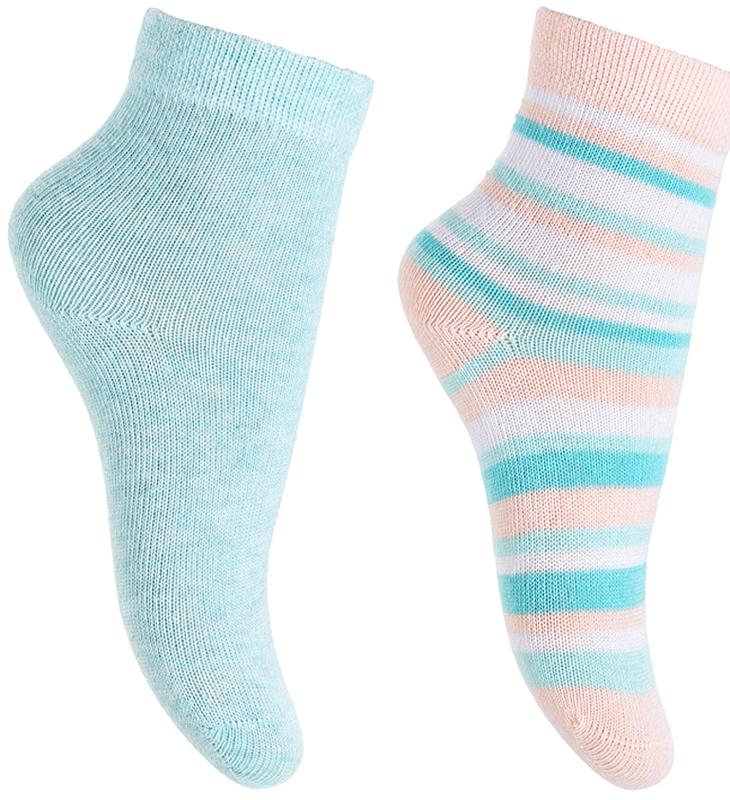 Носки для девочки PlayToday, цвет: голубой, розовый, белый, 2 пары. 378089. Размер 11378089Носки PlayToday очень мягкие, выполненные, из натуральных материалов, приятные к телу и не сковывают движений. Хорошо пропускают воздух, тем самым позволяя коже дышать. Даже частые стирки, при условии соблюдений рекомендаций по уходу, не изменят ни форму, ни цвет изделия. Мягкая резинка не сдавливает нежную детскую кожу.В комплекте 2 пары носков.