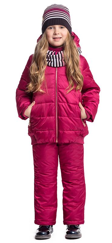 Куртка для девочки PlayToday, цвет: малиновый. 372002. Размер 116372002Утепленная стеганая куртка PlayToday выполнена из водоотталкивающей ткани. Модель на молнии, специальный карман для фиксации бегунка не позволит застежке травмировать нежную детскую кожу. Куртка с вшивным капюшоном, с мягкой резинкой по контуру. Низ, манжеты и контур капюшона на мягких резинках. Светоотражатели обеспечат видимость ребенка в темное время суток. Модель дополнена вшивными карманами на молнии.