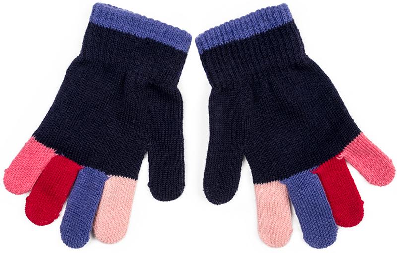 Перчатки для девочки PlayToday, цвет: темно-синий. 372087. Размер 13372087Вязаные перчатки PlayToday станут идеальным вариантом для прохладной погоды. Они очень мягкие, хорошо тянутся и прекрасно сохраняют тепло. На манжетах - плотная резинка, которая хорошо держит перчатки на руках ребенка. Модель выполнена в технике Yarn Dyed - в процессе производства используются разного цвета нити. Изделие, при рекомендуемом уходе, не линяет и надолго остается в прежнем виде.
