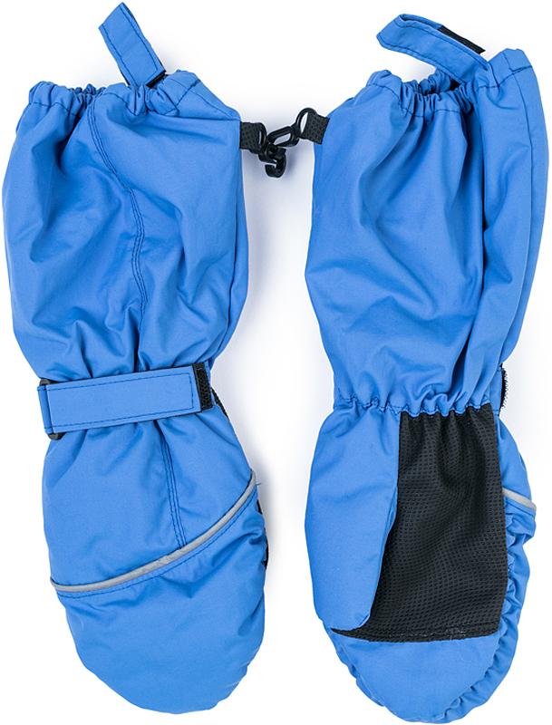 Варежки для девочки PlayToday, цвет: ярко-голубой. 372176. Размер 14372176Теплые PlayToday варежки из непромокаемого материала защитят руки ребенка при холодной погоде. Модель на подкладке из теплого флиса. Удлиненные запястья дополнены резинками для дополнительного сохранения тепла.