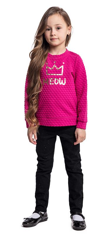 Свитшот для девочки PlayToday, цвет: розовый. 372018. Размер 110372018Свитшот PlayToday выполнен из рельефного трикотажа с ярким принтом. Модель на спинке застегивается на удобные застежки-кнопки. Низ изделия по бокам декорирован небольшими разрезами.