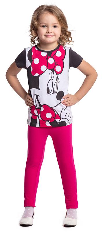 Футболка для девочки PlayToday, цвет: белый, черный. 572003. Размер 104572003Футболка PlayToday выполнена из эластичного хлопка. Модель с короткими рукавами и круглым вырезом горловины оформлена принтом.