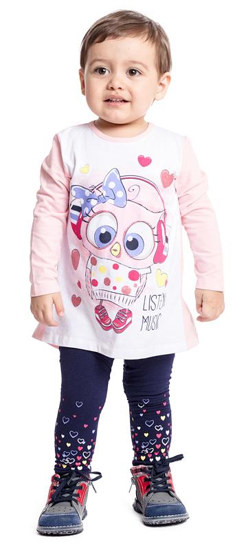 Футболка с длинным рукавом для девочки PlayToday, цвет: светло-розовый, белый. 378020. Размер 74378020Футболка с длинным рукавом PlayToday выполнено из эластичного хлопка. Подойдет для домашнего использования и в качестве повседневной одежды. Свободный крой не сковывает движений. Приятная на ощупь ткань не раздражает нежную кожу ребенка. Модель дополнена принтом. Низ изделия на спинке оформлен широкой вставкой, дающей эффект юбки. Для удобства снимания и одевания сзади модель дополнена застежками-кнопками.