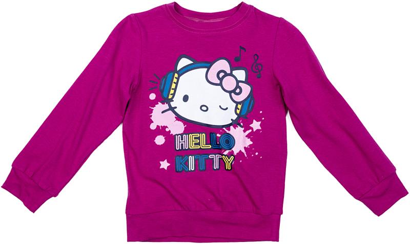 Свитшот для девочки PlayToday, цвет: лиловый. 572153. Размер 122572153Свитшот PlayToday с длинным рукавом может быть и домашней, и повседневной одеждой. Модель декорирована ярким лицензированным принтом. Горловина, манжеты и низ изделия на мягких трикотажных резинках.