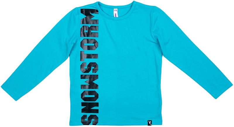 Футболка с длинным рукавом для мальчика PlayToday, цвет: голубой. 371117. Размер 104371117Футболка PlayToday выполнена из эластичного хлопка. Модель с длинными рукавами и круглым вырезом горловины.