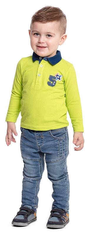 Поло для мальчика PlayToday Baby, цвет: желтый, синий. 377022. Размер 86377022Практичная футболка-поло с длинным рукавом PlayToday Baby, изготовленная из натурального хлопка, - отличное дополнение к повседневному гардеробу каждого мальчика. Модель прямого кроя с классическим отложным воротничком оформлена аппликацией и застегивается на пуговицы до середины груди. Мягкий материал приятен к телу и не вызывает раздражений.