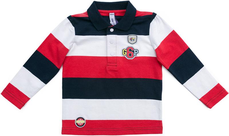 Поло для мальчика PlayToday, цвет: красный, темно-синий, белый. 377070. Размер 80377070Футболка-поло с длинным рукавом PlayToday на застежках-кнопках и с отложным воротником разнообразит повседневный гардероб ребенка. Модель выполнена в технике Yarn Dyed - в процессе производства используются разного цвета нити. При рекомендуемом уходе, изделие не линяет и надолго остается в первоначальном виде. Натуральный материал приятен к телу и не вызывает раздражений.