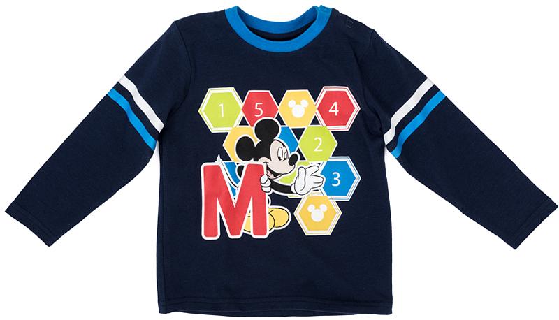 Футболка для мальчика PlayToday, цвет: синий, голубой, белый, черный. 577002. Размер 80577002Футболка PlayToday выполнена из эластичного хлопка. Модель с короткими рукавами и круглым вырезом горловины оформлена принтом.