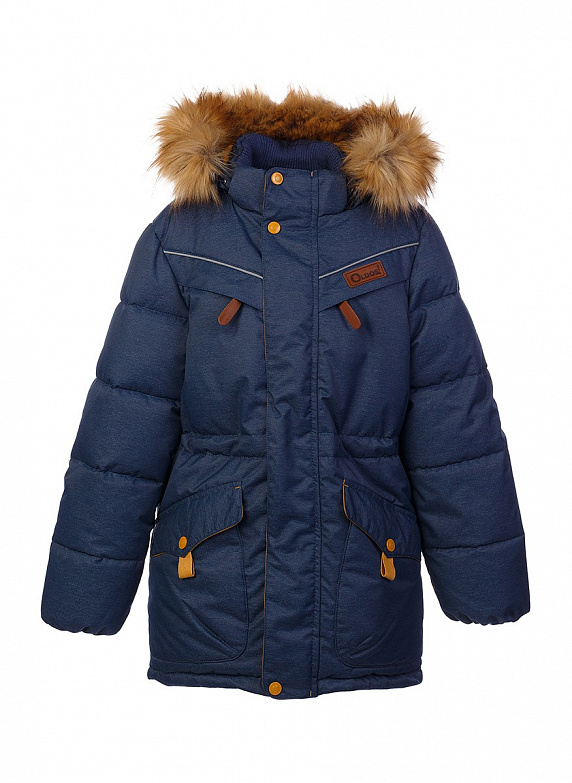 Куртка для мальчика Oldos Жан, цвет: темно-синий. 1O7JK00-2. Размер 140, 10 лет1O7JK00-2Модная зимняя куртка для мальчика. Внешнее покрытие TEFLON - защита от воды и грязи, за изделием легко ухаживать. Современный утеплитель - лебяжий пух искусственный: легкий, как натуральный, отлично сохраняет тепло, не впитывает влагу, сохраняет и быстро восстанавливает объем, гипоаллергенен. Подкладка – флис, в рукавах - гладкий полиэстер. Капюшон съемный, с регулировкой объема, опушка отстегивается. Воротник-стойка, двойная ветрозащитная планка с защитой подбородка, внутренние саморегулирующиеся трикотажные манжеты надежно защитят от непогоды. Есть регулируемая утяжка по талии, нашивка-потеряшка на подкладке, светоотражающие элементы. Рекомендовано от 0°С до минус 35°С.
