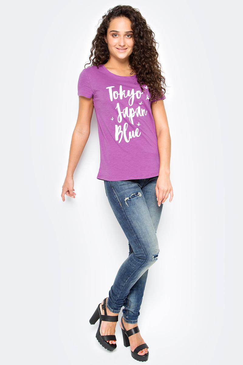 Джинсы женские Tom Tailor Jona Japanese, цвет: синий. 6255012.00.71_1052. Размер 25-32 (40/42-32)6255012.00.71_1052Женские джинсы Tom Tailor с дырками и с небольшим эффектом потертости ткани. Модель зауженного кроя и высокой посадки в поясе застегивается на пуговицу, имеются ширинка на молнии и шлевки для ремня. Джинсы имеют классический пятикарманный крой.