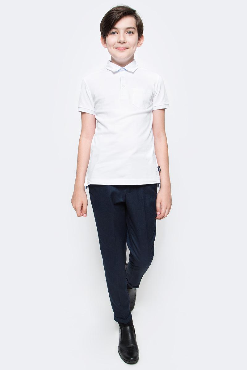 Брюки для мальчика Gulliver, цвет: синий. 217GSBC6301. Размер 128217GSBC6301Классические брюки для мальчика - основа повседневного школьного гардероба. В сочетании с любым верхом, они смотрятся строго, настраивая на деловую волну. Школьные брюки с манжетом - прекрасный вариант для тех, кто идет в ногу со временем и хочет выглядеть стильно и современно. Хороший состав ткани с модным зернистым переплетением обеспечивает брюкам достойный вид, долговечность и неприхотливость в уходе. Брюки имеют удобную регулировку пояса, создающую комфортную посадку изделия на любой фигуре.