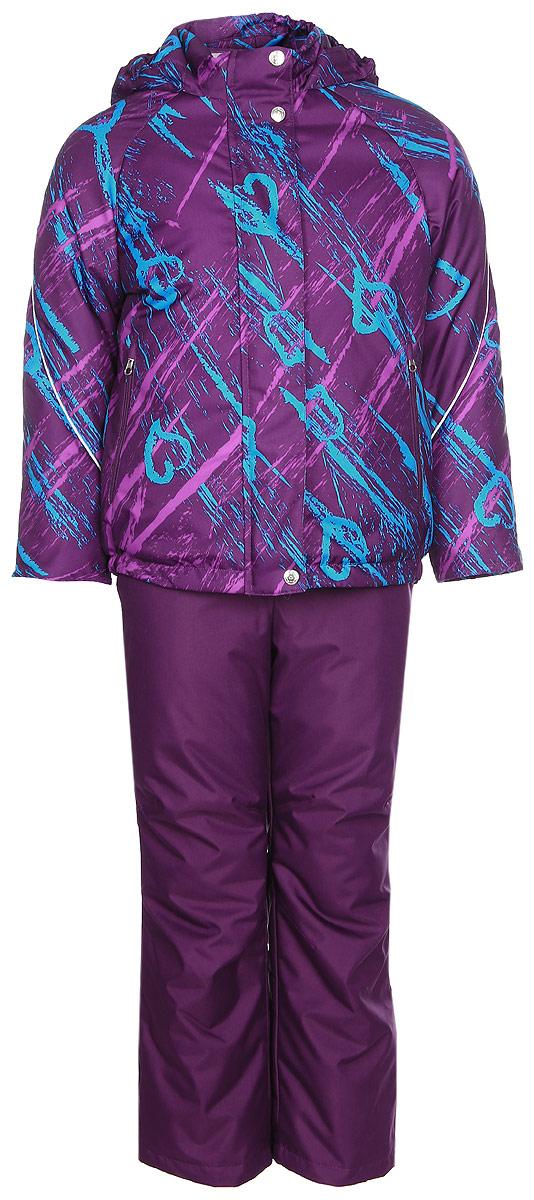 Комплект для девочки Jicco By Oldos Галата: куртка и полукомбинезон, цвет: фиолетовый, голубой. 1J7SU03. Размер 92, 2 года1J7SU03Комплект для девочки Jicco By Oldos, состоящий из куртки и полукомбинезона, выполнен из полиэстера с водо-грязеотталкивающей пропиткой. Подкладка-флис, в рукавах и брючинах - гладкий полиэстер. Куртка дополнена капюшоном, воротником - стойкой, двумя карманами на молниях, а также светоотражающими элементами. Изделие застегивается на молнию и имеет двойную ветрозащитную планку. Рукава с отворотом и внутренней трикотажной саморегулирующейся манжетой. Эластичная талия полукомбинезона и регулируемые подтяжки гарантируют посадку по фигуре, длинная молния впереди облегчает процесс одевания.