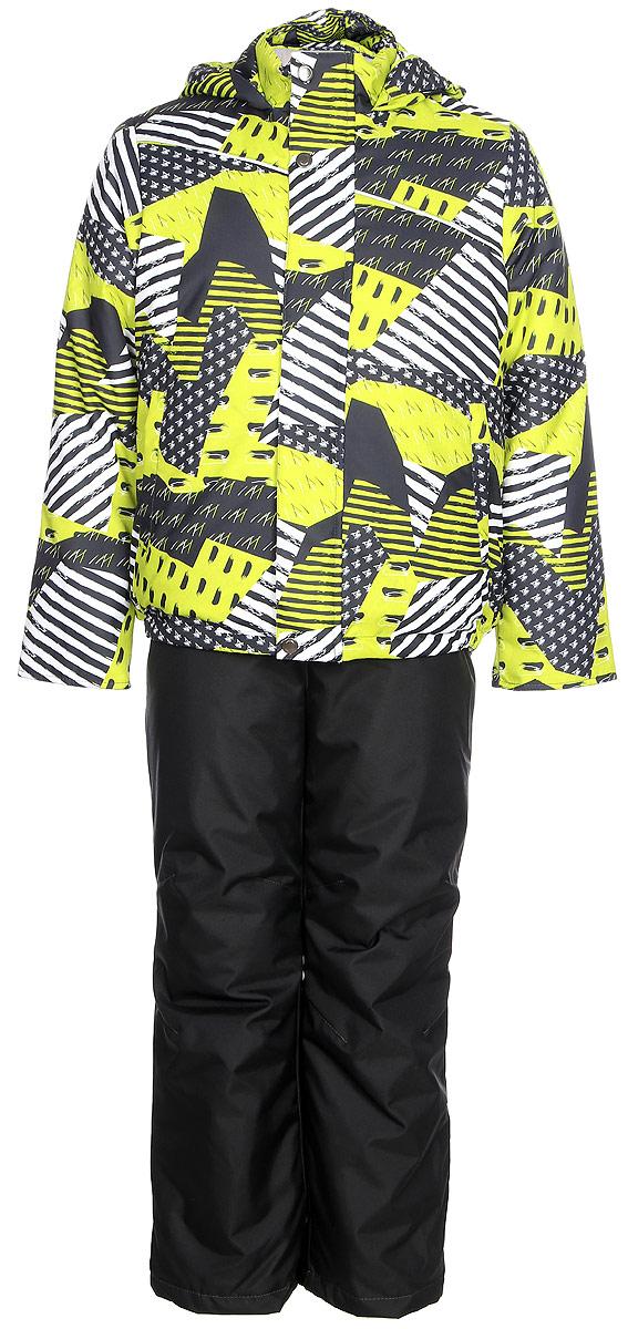 Комплект для мальчика Jicco By Oldos Кирус: куртка и полукомбинезон, цвет: графитовый, салатовый. 1J7SU08. Размер 134, 9 лет1J7SU08Комплект для мальчика Jicco By Oldos, состоящий из куртки и полукомбинезона, выполнен из полиэстера с водо-грязеотталкивающей пропиткой. Гипоаллергенный утеплитель сохраняет тепло и быстро сохнет. Подкладка-флис, в рукавах и брючинах - гладкий полиэстер. Куртка дополнена капюшоном, воротником - стойкой и двумя карманами на молниях. Изделие застегивается на молнию, имеет двойную ветрозащитную планку. Рукава с отворотом и внутренней трикотажной саморегулирующейся манжетой. Эластичная талия полукомбинезона и регулируемые подтяжки гарантируют посадку по фигуре, длинная молния впереди облегчает процесс одевания. Изделие имеет светоотражающие элементы.