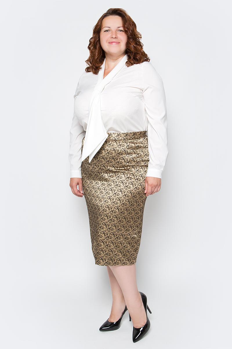 Блузка женская Milanika, цвет: молочный. 50132. Размер 5250132Стильная блузка офисного стиля. Класический крой. Длинный рукав. Застежка на пуговицах. Чуть приталенный силуэт. Воротник выполнен в форме галстука. Красиво. Эффектно.