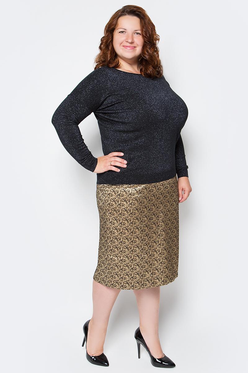 Джемпер женский Milanika, цвет: черный. 6627. Размер 54/566627Стильный вязаный джемпер от Milanika выполнен из пряжи сложного состава с люрексом. Модель прямого силуэта с длинными рукавами и круглым вырезом горловины.