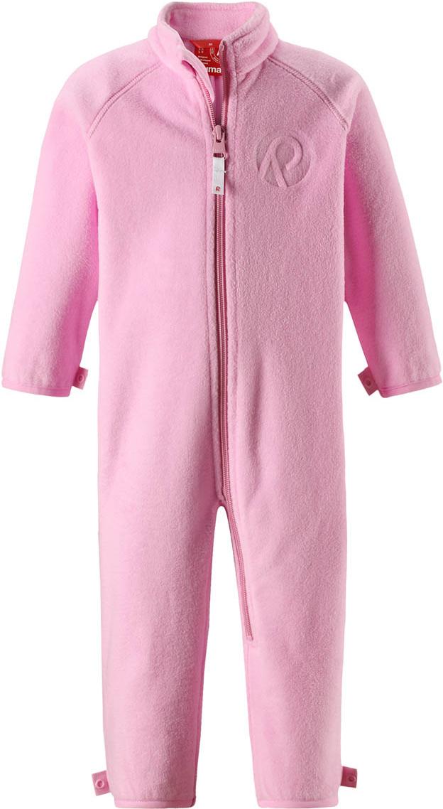 Комбинезон утепленный флисовый для девочек Reima Ester, цвет: розовый. 5163154190. Размер 865163154190