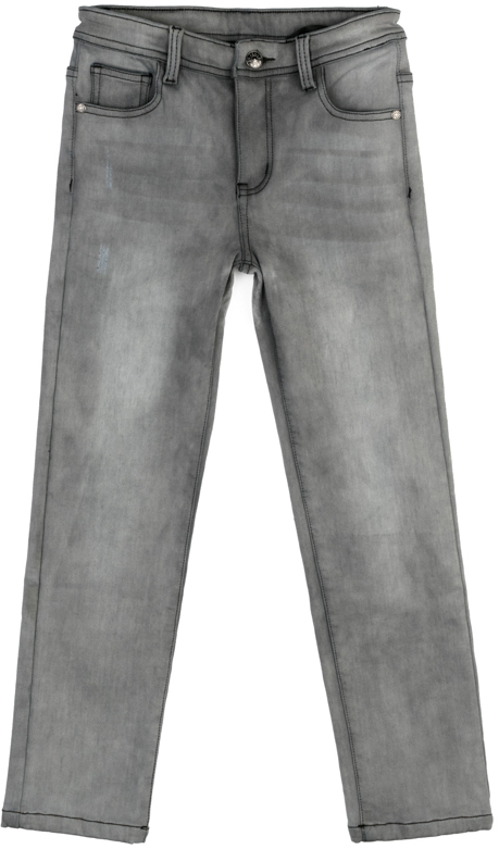 Джинсы для мальчика Scool, цвет: серый. 373060. Размер 152373060Джинсы Scool из смесовой ткани с высоким содержанием хлопка. Классическая пятикарманная модель со шлевками. При необходимости можно использовать ремень. В качестве декора использованы потертости.