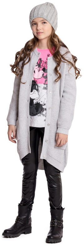 Пальто для девочки Scool, цвет: серый. 374005. Размер 158374005Трикотажное вязаное пальто Scool - отличное решение для прохладной погоды. Модель на пуговицах, дополнена накладными карманами и поясом. Мягкий материал приятен к телу и не сковывает движений. Хорошо сочетается с брюками и юбкой.