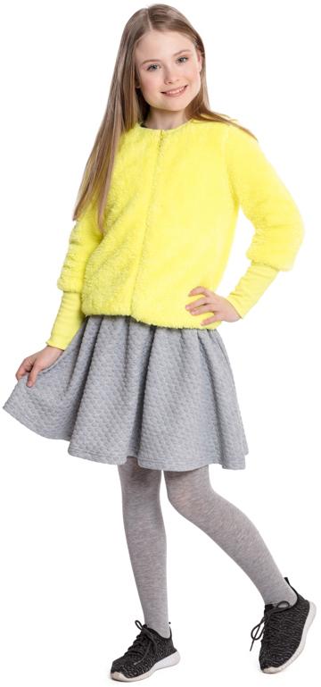 Юбка для девочки Scool, цвет: серый. 374019. Размер 152374019Удобная юбка Scool из рельефного трикотажа - отличное дополнение к повседневному гардеробу ребенка. Пояс на широкой резинке декорирован люрексной нитью. Свободный крой не сковывает движений. Мягкая ткань комфортна при носке.