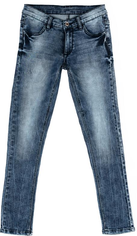 Джинсы для девочки Scool, цвет: синий. 374089. Размер 140374089Джинсы Scool выполнены из смесовой ткани с высоким содержанием хлопка. Классическая пятикарманная модель со шлевками. В качестве декора использованы потертости.