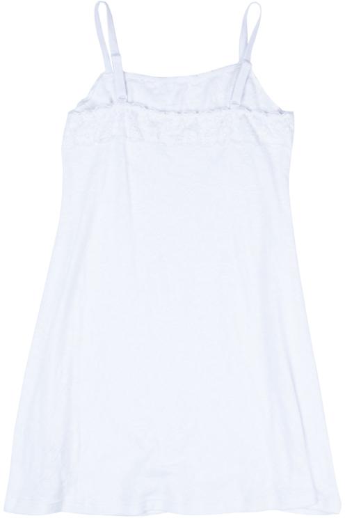 Ночная сорочка для девочки Scool, цвет: белый. 374107. Размер 158374107Ночная сорочка Scool из смесовой ткани с высоким содержанием натурального хлопка. Модель на регулируемых бретелях, декорирована тесьмой. За счет содержания в ткани вискозы, сорочка обладает повышенной гигроскопичностью.