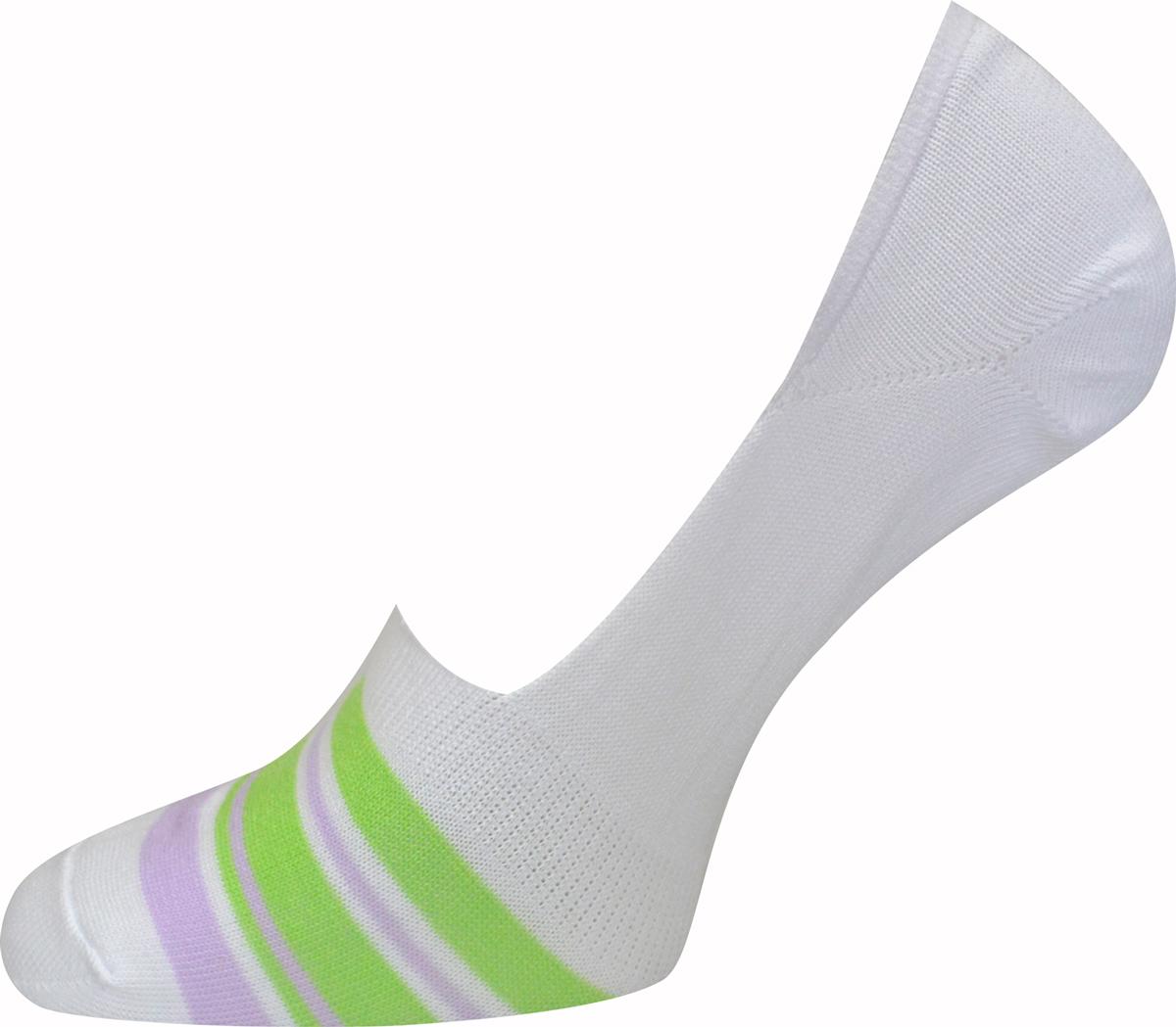 Подследники женские Master Socks, цвет: белый, зеленый. 55830. Размер 2555830Удобные подследники Master Socks, изготовленные из высококачественного комбинированного материала с хлопковой основой, очень мягкие и приятные на ощупь, позволяют коже дышать. Практичные и комфортные подследники великолепно подойдут к любой вашей обуви.