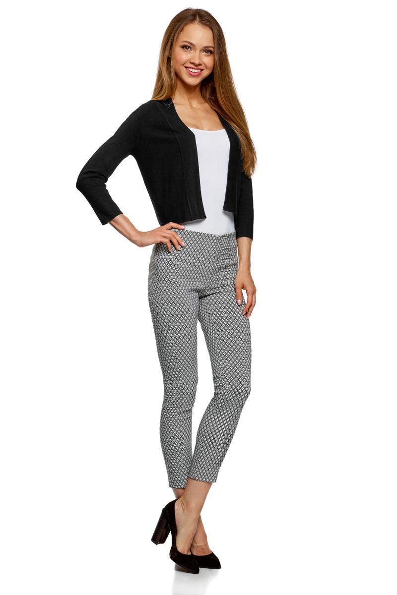 Жакет женский oodji Ultra, цвет: черный. 64A12318/45339/2900N. Размер S (44)64A12318/45339/2900N