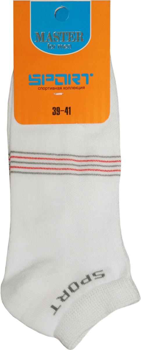 Носки мужские Master Socks, цвет: белый. 58914. Размер 2758914Удобные носки Master Socks в спортивном стиле, изготовленные из высококачественного комбинированного материала с хлопковой основой, очень мягкие и приятные на ощупь, позволяют коже дышать.Эластичная резинка плотно облегает ногу, не сдавливая ее, обеспечивая комфорт и удобство. Носки с укороченным паголенком. Практичные и комфортные носки великолепно подойдут к любой вашей обуви.