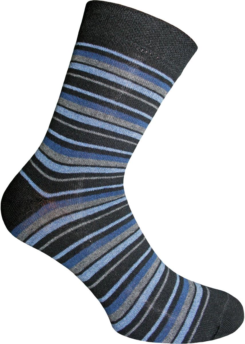 Носки мужские Master Socks, цвет: черный. 58063. Размер 2758063Удобные носки Master Socks, изготовленные из высококачественного комбинированного материала с хлопковой основой, очень мягкие и приятные на ощупь, позволяют коже дышать.Эластичная резинка плотно облегает ногу, не сдавливая ее, обеспечивая комфорт и удобство. Носки с паголенком классической длины оформлены принтом в полоску. Практичные и комфортные носки великолепно подойдут к любой вашей обуви.