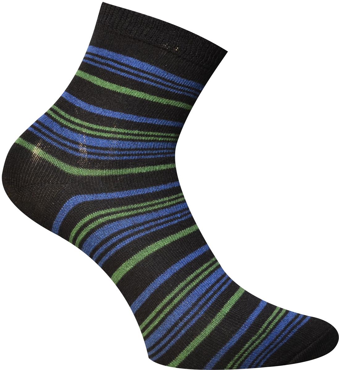 Носки детские Master Socks, цвет: темно-синий. 52064. Размер 2252064Удобные носки Master Socks, изготовленные из высококачественного комбинированного материала с хлопковой основой, очень мягкие и приятные на ощупь, позволяют коже дышать.Эластичная резинка плотно облегает ногу, не сдавливая ее, обеспечивая комфорт и удобство. Носки с паголенком классической длины оформлены принтом в полоску. Практичные и комфортные носки великолепно подойдут к любой вашей обуви.