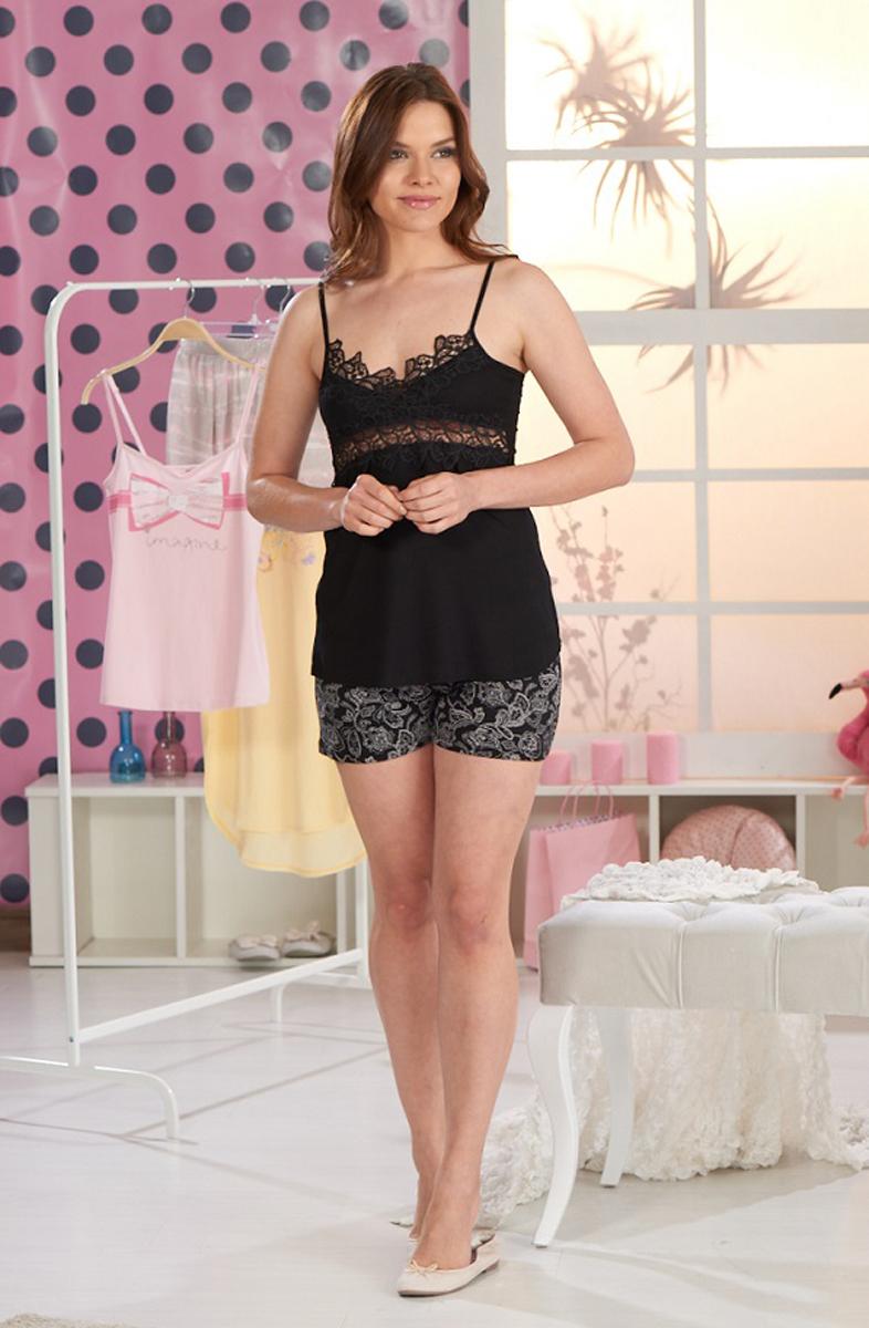 Домашний комплект женский Sevim, цвет: черный. 10182 SV. Размер S (42/44)10182 SV