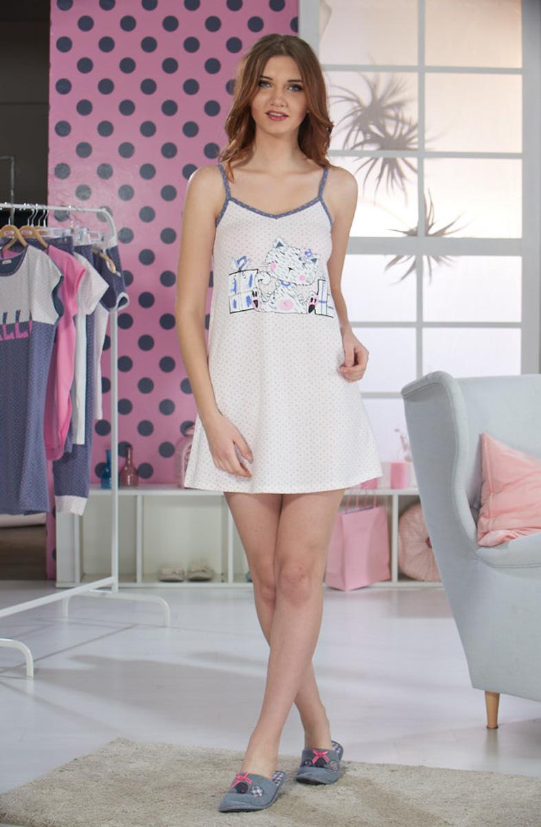 Ночная рубашка женская Sevim, цвет: кремовый. 10355 SV. Размер M (44/46)10355 SV