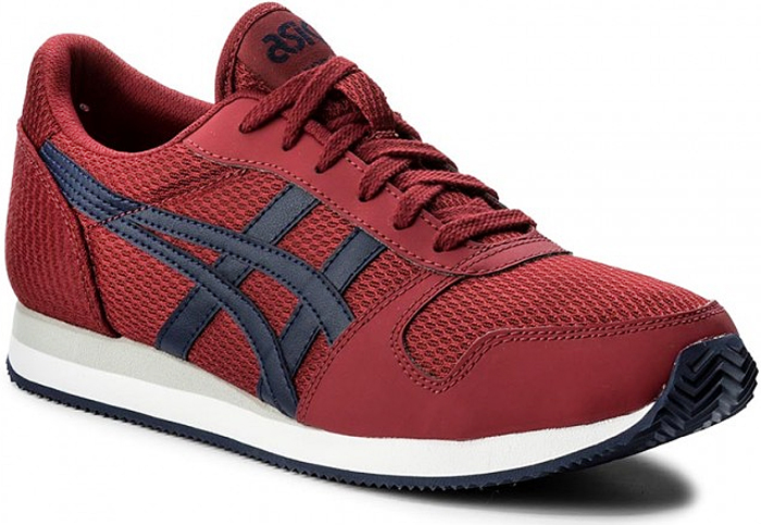 Кроссовки мужские Asics Tiger Curreo II, цвет: красный, синий. HN7A0-2658. Размер 9H (41,5)HN7A0-2658