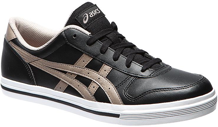 Кроссовки мужские Asics Aaron, цвет: черный, серый. HY540-9012. Размер 7H (38,5)HY540-9012Классические кроссовки, изначально созданные для баскетбола, изготовлены с использованием вулканизированной прочной резины и предназначены для всех поколений поклонников спорта, модель AARON обеспечивает комфорт при носке в любое время года.