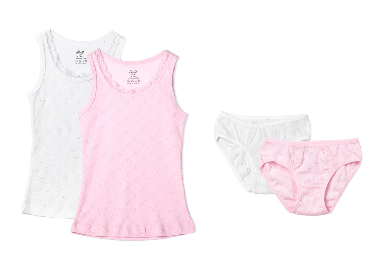 Домашний комплект для девочки Buonumare, цвет: мультиколор, 2 шт. 7479 BNM. Размер 5 (110)7479 BNM