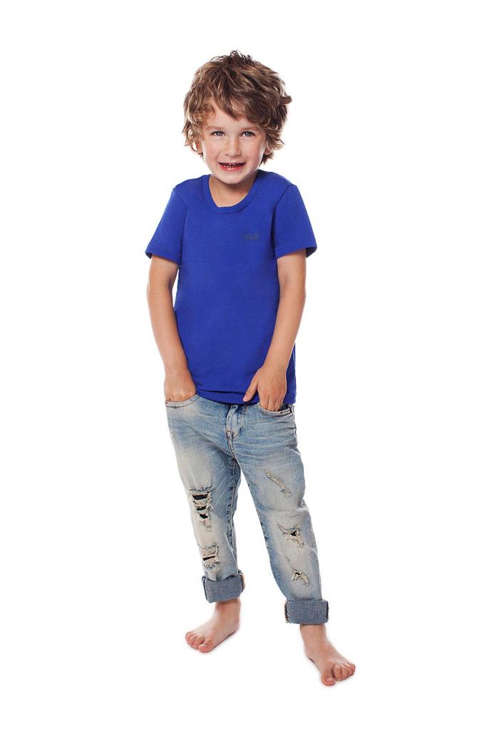 Футболка для мальчика Buonumare, цвет: синий. c0c1501-0007 / 20223 BNM. Размер 2 (92)c0c1501-0007 / 20223 BNM