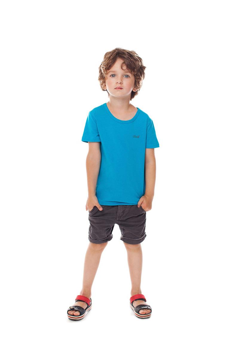 Футболка для мальчика Buonumare, цвет: бирюзовый. c0c1501-0007 / 20223 BNM. Размер 2 (92)c0c1501-0007 / 20223 BNM