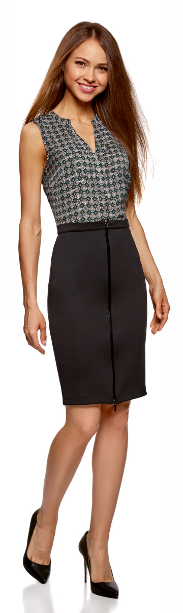 Юбка женская oodji Collection, цвет: черный. 24100033-3/45344/2900N. Размер M (46)24100033-3/45344/2900N