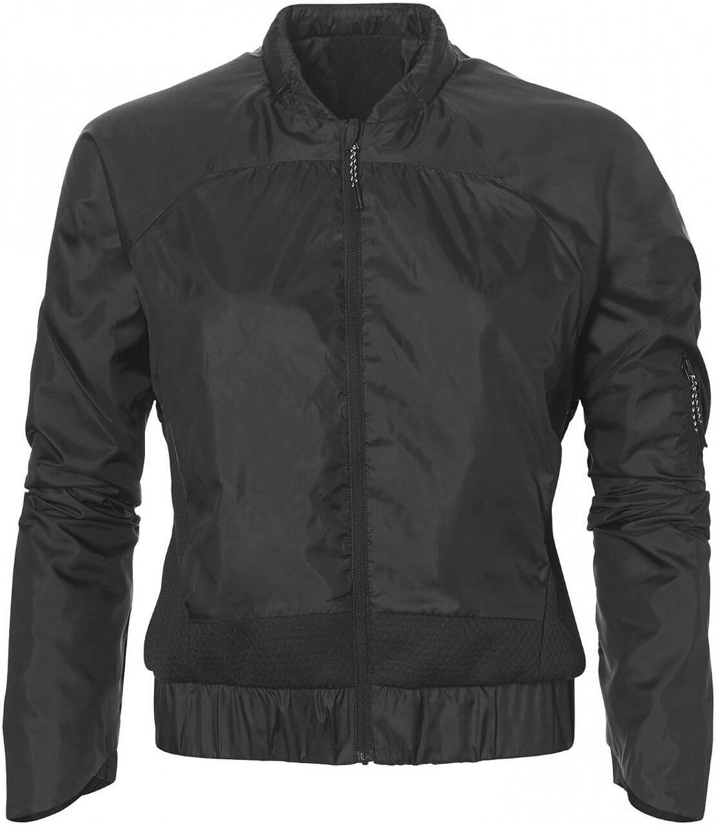 Куртка женская Asics Tech Jacket, цвет: черный. 146413-0904. Размер L (48/50)146413-0904Спортивная куртка от Asics станет вашим лучшим другом на разминке, в перерывах между сетами и на корте в прохладную погоду.