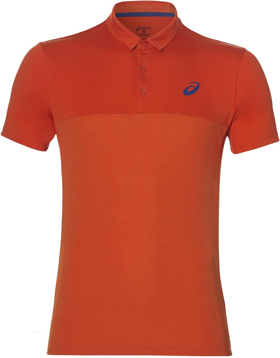 Поло мужское Asics Padel Polo, цвет: терракотовый. 141166-0516. Размер S (46)141166-0516Теннисная футболка-поло от Asics по-прежнему пользуется популярностью у миллионов игроков теннисных клубов. Ведите свою игру и ощутите максимум комфорта в каждом сете.