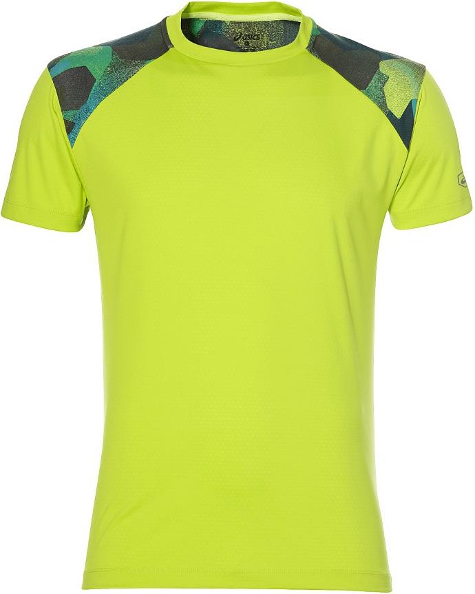 Футболка для бега мужская Asics Fuzex Tee, цвет: салатовый. 141238-0432. Размер XXL (56)Футболка для бега мужская 141238-0432