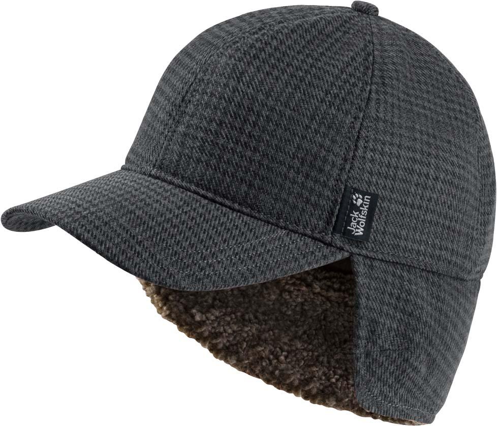 Бейсболка муж Jack Wolfskin Stormlock Banff Springs Cap, цвет: серый. 1906151-7659. Размер M (54/57)1906151-7659Ветронепроницаемая бейсболка с подкладкой из флиса, похожего на овечью шерсть. STORMLOCK BANFF SPRINGS (ШТОРМЛОК БАНФФ СПРИНГС) - это классическая бейсболка, которая была адаптирована для зимы. У нее есть мягкая подкладка из флиса, похожего на овечью шерсть, а также утепляющая подкладка из микрофибры. Эта бейсболка является также ветронепроницаемой, и поэтому она не оставляет холодным ветрам ни малейшего шанса.А если вы колете дрова, и вам стало жарко, ее великолепные дышащие свойства обеспечат вам приятный микроклимат. Или же вы можете просто поднять отвороты для ушей и протектор для шеи, чтобы немного охладиться.