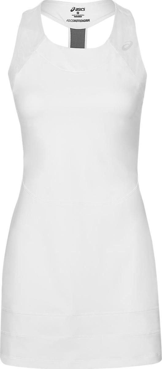 Платье женское Asics Athlete Y Dress, цвет: белый. 146479-0001. Размер M (46/48)146479-0001Классика на десятилетия. Заявите о себе в этом теннисном платье от Asics. Достаточно открытая спинка придает особый комфорт по время игры. Материал дарит приятные ощущения на всем протяжении матча. Культовый силуэт и по-настоящему женственный стиль.