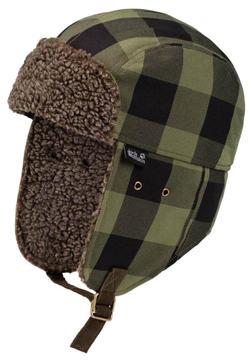 Шапка-ушанка муж Jack Wolfskin Stormlock Timberwolf Shapka, цвет: хаки. 1906131-7825. Размер L (57/60)1906131-7825Очень теплая ветронепроницаемая шапка-ушанка с отворотами для ушей и флисовой подкладкой, имитирующей овечью шерсть. Вдохновением для создания этой шапки послужили канадские зимы, поэтому она разработана специально, чтобы противостоять холодным ветрам. Шапка STORMLOCK TIMBERWOLF SHAPKA (ШТОРМЛОК ТИМБЕРВОЛЬФ ШАПКА) - это новый вызов традиционной зимней шапке. Она ветронепроницаема, прекрасно сохраняет тепло и оснащена мягкой подкладкой, имитирующую овечью шерсть. С такой шапкой не страшны ледяные ветра.Синтетический утеплитель нечувствителен к влаге. Таким образом, она непревзойденно сохраняет тепло, даже если на улице слякотно и снежно. А если вы колете дрова, и вам стало жарко, ее великолепные дышащие свойства обеспечат вам приятный микроклимат. Или же вы можете просто поднять отвороты для ушей и протектор для шеи, чтобы немного охладиться. А если дует суровый зимний ветер, вы можете опустить отвороты для ушей и завязать их под подбородком при помощи регулируемых тесемок.