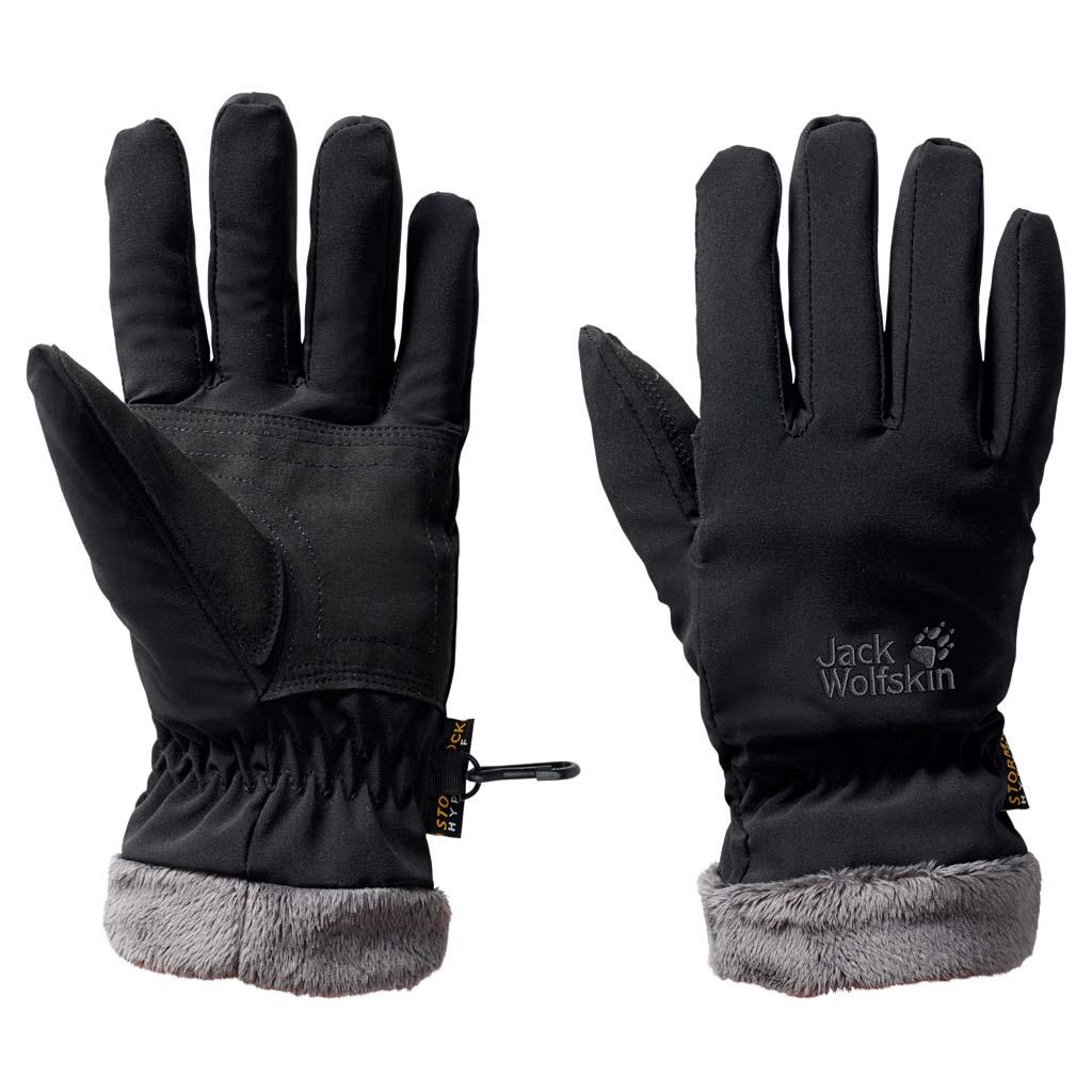 Перчатки женские Jack Wolfskin Stormlock Highloft Glove W, цвет: черный. 1901083-6000. Размер M (19,5/21)1901083-6000Ветро- и водонепроницаемые перчатки с теплой подкладкой из флиса. Прочные снаружи, мягкие и теплые внутри. В наших перчатках STORMLOCK HIGHLOFT (ШТОРМЛОК ХАЙЛОФТ) ветронепроницаемый материал STORMLOCK (ШТОРМЛОК) сочетается с теплым флисом. Легкая внешняя ткань также прекрасно дышит, что делает эти перчатки идеальными для активного отдыха на свежем воздухе.Подкладка перчаток изготовлена из флиса с высоким ворсом, что делает ее очень теплой при относительно небольшом весе и чрезвычайно приятной на ощупь.