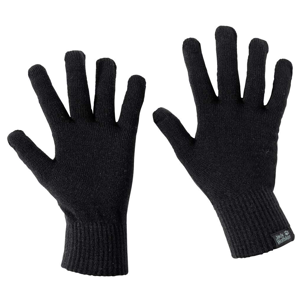 Перчатки Jack Wolfskin Touch Knit Glove, цвет: черный. 1906391-6000. Размер универсальный1906391-6000Легкие перчатки для сенсорного экрана. Хотите по-быстрому снять горный пейзаж на телефон или проверить навигатор во время зимней прогулки? Если на ваших руках перчатки TOUCH KNIT (ТАЧ НИТ), вам точно не придется их снимать. Специальная ткань перчаток позволяет совершать все необходимые манипуляции с экраном вашего гаджета.Невероятно легкие, они успешно выполняют функцию базовой защиты от холода и могут служить как внутренний слой в паре с внешними перчатками.