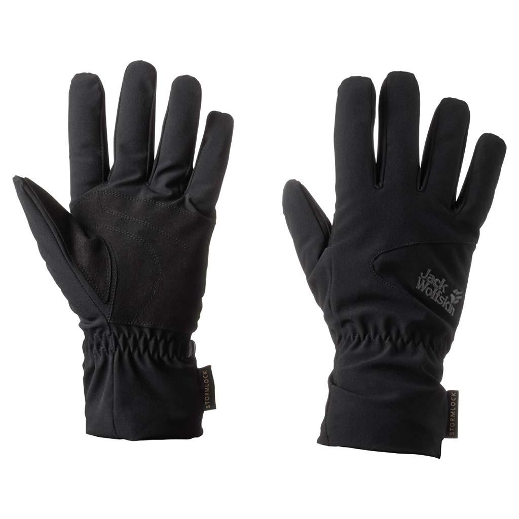 Перчатки Jack Wolfskin Stormlock Highloft Glove, цвет: черный. 1904432-6000. Размер L (23,5/25,5)1904432-6000Ветро- и водонепроницаемые перчатки с теплой подкладкой из флиса. Прочные снаружи, мягкие и теплые внутри. В наших перчатках STORMLOCK HIGHLOFT (ШТОРМЛОК ХАЙЛОФТ) ветронепроницаемый материал STORMLOCK (ШТОРМЛОК) сочетается с теплым флисом. Легкая внешняя ткань также прекрасно дышит, что делает эти перчатки идеальными для активного отдыха на свежем воздухе.Подкладка перчаток изготовлена из флиса с высоким ворсом, что делает ее очень теплой при относительно небольшом весе и чрезвычайно приятной на ощупь.