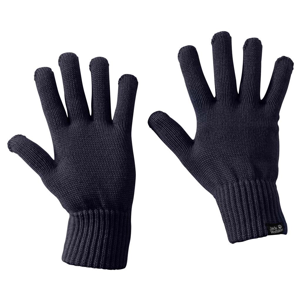 Перчатки Jack Wolfskin Milton Glove, цвет: темно-синий. 1905142-1010. Размер M (21,5/23)1905142-1010Теплые вязаные перчатки Jack Wolfskin Milton Glove - простые вязаные перчатки, согревающие как натуральная шерсть. Перчатки Milton делаются из волокна, состоящего из смеси шерсти и синтетических волокон. Благодаря содержанию шерсти они хорошо сохраняют тепло. Рубчатые манжеты обеспечивают дополнительное тепло.