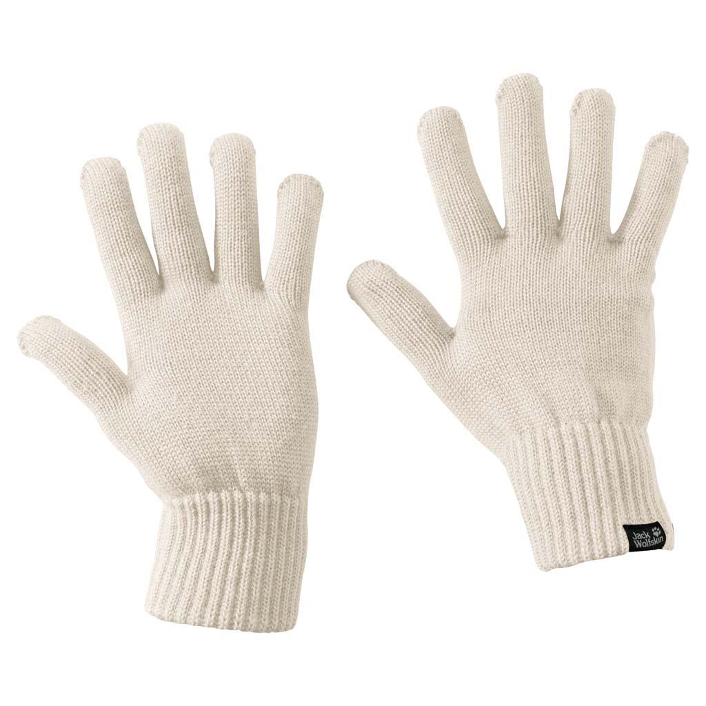 Перчатки Jack Wolfskin Milton Glove, цвет: молочный. 1905142-5045. Размер L (23,5/25,5)1905142-5045Теплые вязаные перчатки Jack Wolfskin Milton Glove - простые вязаные перчатки, согревающие как натуральная шерсть. Перчатки Milton делаются из волокна, состоящего из смеси шерсти и синтетических волокон. Благодаря содержанию шерсти они хорошо сохраняют тепло. Рубчатые манжеты обеспечивают дополнительное тепло.